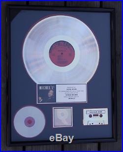 Rare MichelLe Self-Titled Album RIAA 500K Sales Gold Record Award Ruthless