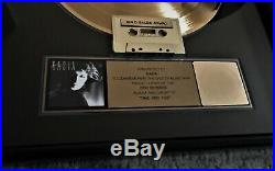 Rare! Signed BASIA RIAA Certified Gold Record Award for Debut Time and Tide