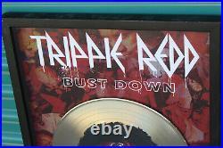 Rare Trippie Red Gold Bust Down RIAA Certified Record Award Plaque Luke Nolimit