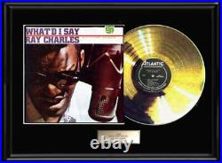 Ray Charles What'd I Say Rare Gold Metalized Record Lp Album Non Riaa Award