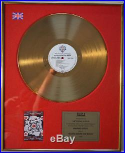 Red Hot Chili Peppers Bpi Gold Record Lp Award To Anthony Kiedis (riaa)