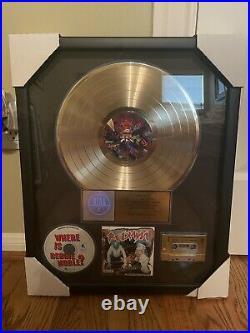 Redman Malpractice Gold Record RIAA Award presented to Def Jam Exec (Rare)
