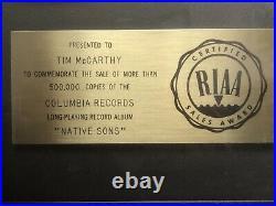 Riaa Award Gold Record For Loggins And Messina Album Native Sons