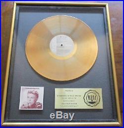 Riaa David Bowie Changesonebowie Original 1976 Gold Record Award