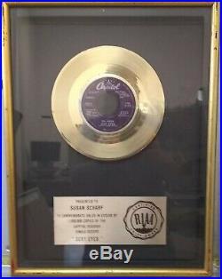 Riaa Dr. Hook Sexy Eyes Gold 45 Record Award