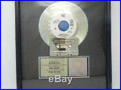 Riaa Gold Sales Award Voices That Care David Foster Framed Record Award