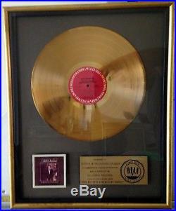 Riaa Neil Diamond I'm Glad You're Here With Me Tonight Gold Record Award