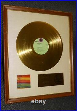 Riaa The Band Gold Record Award Disc Stage Fright Disc White Matte Christies