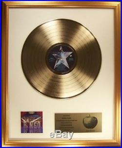 Ringo Starr Ringo (Self Titled) LP Gold Non RIAA Record Award Apple Records