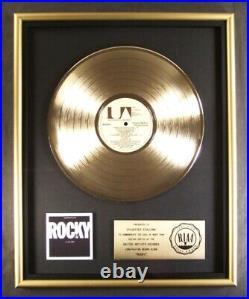 Rocky Movie Soundtrack LP Gold RIAA Record Award To Sylvester Stallone
