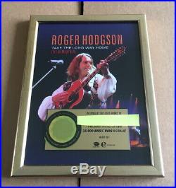 Roger Hodgson Live in Montreal Gold Award Supertramp Music Award DVD way home