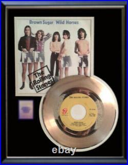 Rolling Stones Brown Sugar 45 RPM Gold Metalized Record Rare Non Riaa Award
