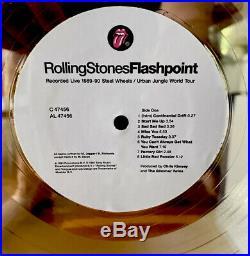 Rolling Stones Original Authentic RIAA GOLD award Flashpoint Live Rare LP Record