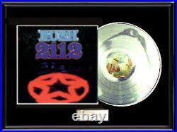 Rush 2112 White Gold Silver Metalized Vinyl Record Lp Album Non Riaa Award Rarre