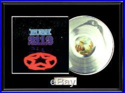 Rush 2112 White Gold Silver Platinum Toned Record Lp Album Non Riaa Award Rarre