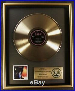 Rush ExitStage Left LP Gold RIAA Record Award To Mercury Records