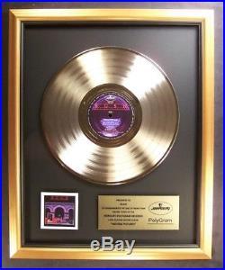 Rush Moving Pictures LP Gold Non RIAA Record Award Mercury Records