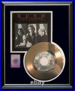 Rush Tom Sawyer 45 RPM Gold Metalized Record Rare Non Riaa Award Rare Disc