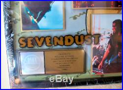 SEVENDUST Gold Record Award Official RIAA Framed Sealed NEW Mint Rare Display