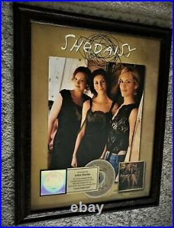 SHeDAISY RIAA Gold Record Sales Award / SWEET RIGHT HERE 1994 500,000 Sold
