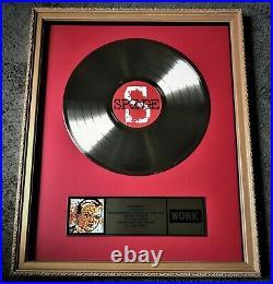 SPONGE 1994 The WORK Group Label Gold Record Award / Rotting Piñata, Non RIAA