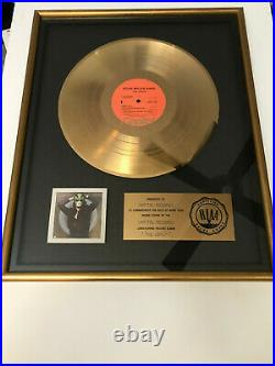 STEVE MILLER Authentic RIAA Gold Record Award The Joker