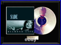 Sade Diamond Life Album Rare Lp White Gold Platinum Tone Record Non Riaa Award
