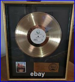 Sammy Hagar VOA Gold Record Award Plaque RIAACertified Chris Pollan