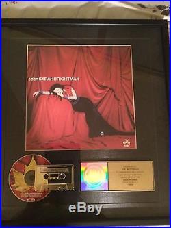 Sarah Brightman Eden Riaa Gold Record Award