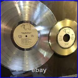 Saturday Noght Fever Platinum Record Award WithGold Stayin Alive 45
