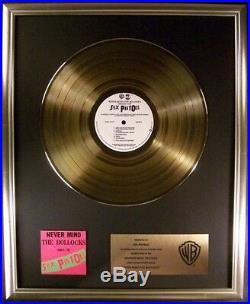 Sex Pistols Never Mind The Bollocks LP Gold Non RIAA Record Award Warner Bros