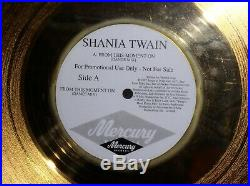 Shania Twain From This Moment On 24kt Gold Record Award