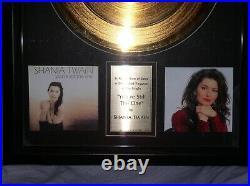 Shania Twain Still The One 24kt Gold Record Award