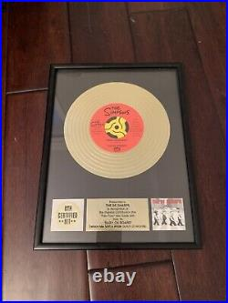 Simpsons Baby On Board Be Sharps Promo Gold Record Plaque Award Very Rare