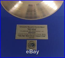 Sinead O´Connor Gold Award (goldene Schallplatte) I Do Not Want What I Haven´t