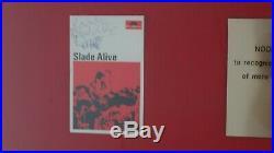 Slade Alive Gold Record Award Presentation to Noddy Holder signed by Noddy Disc