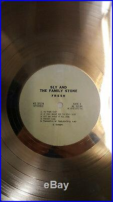 Sly And The Family Stone Fresh Riaa Gold Record Award Presented To Band Member