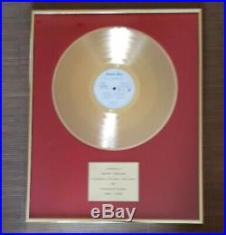 Status Quo In House award golden record (non RIAA) Album Ain't Complaining