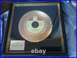 Stevie Wonder 1975 Kdia 45 Gold Record Award Boogie On Reggae Vg Rare Vtg Htf
