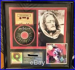 Super-rare Alice In Chains Facelift Gold Record CD Award Plaque Real Riaa