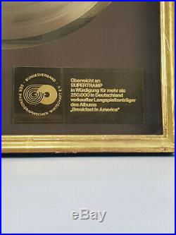 Supertramp Breakfast in Amerika Original German Gold Award presented Supertramp