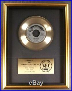 Sweet Little Willy 45 Gold RIAA Record Award Bell Records To The Sweet