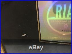TAMIA'A NU DAY' GOLD CD / RECORD RIAA AWARD 19 x 27 AUTHENTIC & RARE