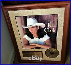 TERRI CLARK TERRI CLARK 1995 RIAA Gold Record Award, Debut Album, KATM