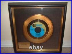THE OSMONDS NON RIAA GOLD RECORD AWARD DISC AWARD ONE BAD APPLE Incredibly Rare