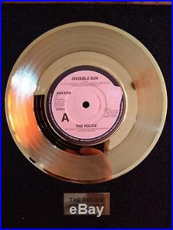THE POLICE single award original Outlandos fanclub replica gold UK Sting