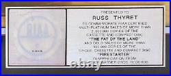 THE PRODIGY 2x PLATINUM RIAA RECORD AWARD Fat of the Land + Gold FIRESTARTER