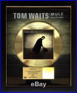 TOM WAITS RIAA Gold Record Award MULE VARIATIONS 1999 Guaranteed Authentic