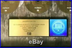 TOM WAITS RIAA Gold Record Award ORPHANS Lifetime Guarantee of Authenticity