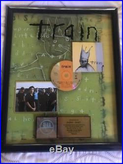 TRAIN-RIAA GOLD RECORD AWARD for self titled debut